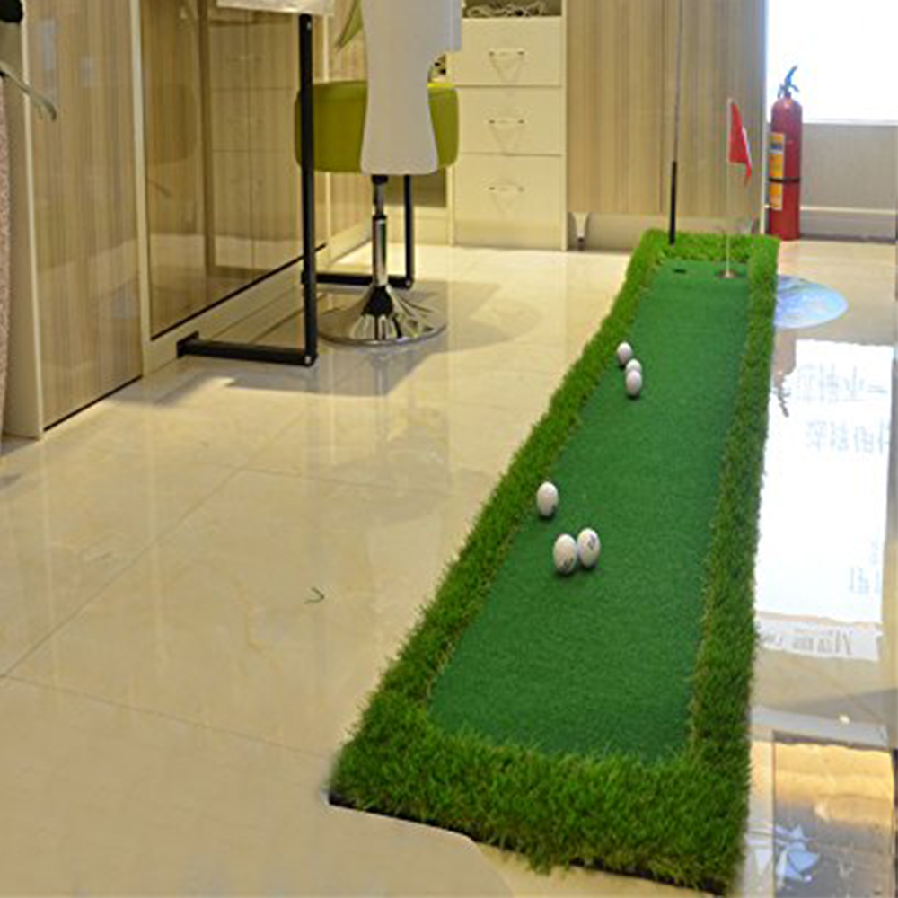 Image 4 - FUNGREEN 50x300CM Mini Golf Putting Green Indoor Outdoor Backyard Protable Golf Practice Putting Trainer Mat for Golfers-in Golf Training Aids from Sports & Entertainment