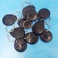 10 unids Negro Color 125 Khz Tarjetas de IDENTIFICACIÓN Keyfobs, Control de Acceso de Tarjetas de Proximidad Rfid Tag tarjeta tecla Roja
