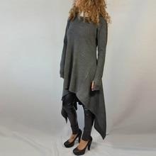 New 2016 Hot Spring Autumn Hoodies Women Dress Long Sleeve Irregular Casual Sweatshirt Women Plus Size Sudaderas Mujer