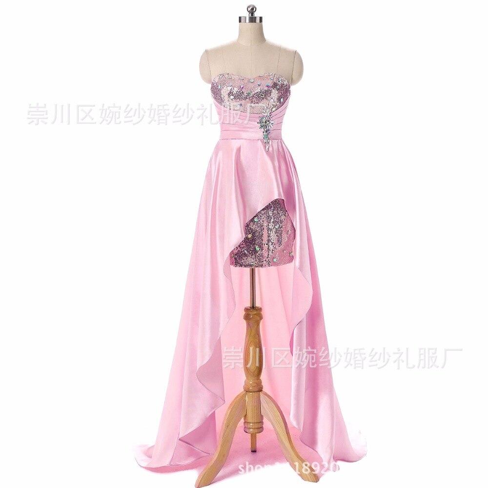 Amor barato formal con cuentas de lentejuelas asimétrica prom dress ...