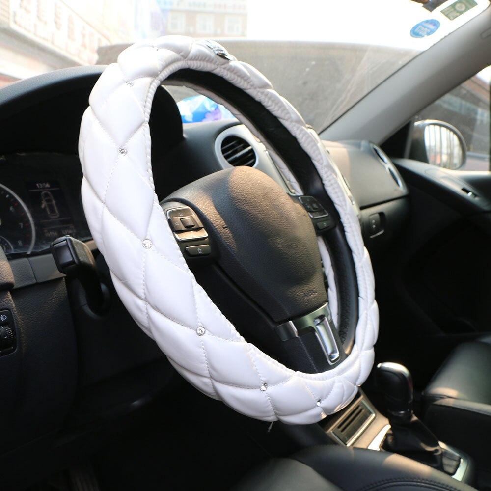 Upscale Crystal Crown Coverd Կանանց մեքենայի ղեկի - Ավտոմեքենայի ներքին պարագաներ - Լուսանկար 3