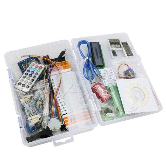 1 Unidades UNO R3 Starter Kit 1602 LCD Motor Conjunto para Arduino Breadboard LED de Matriz de puntos
