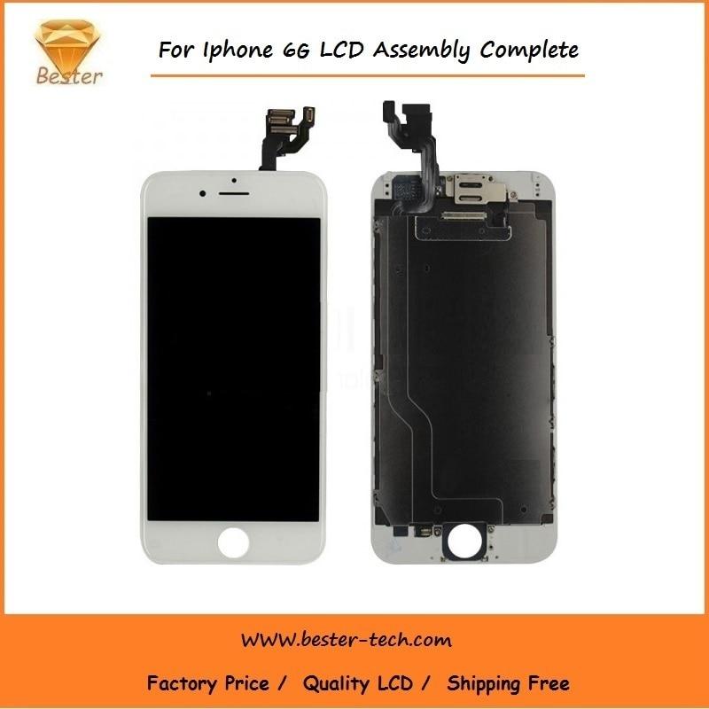 100 unids/lote teléfono de alta calidad lcd para iphone 6 pantalla lcd táctil di