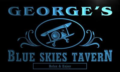 x0016-tm Georges Blue Sky Tavern Custom Personalized Name Neon Sign Wholesale Dropshipping On/Off Switch 7 Colors DHL
