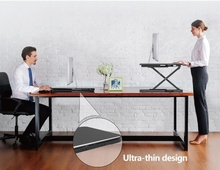 Hot New Ultra thin EasyUp Height Adjustable Sit Stand Desk Riser Foldable Laptop Desk Stand Notebook/Monitor Holder Stand LD04