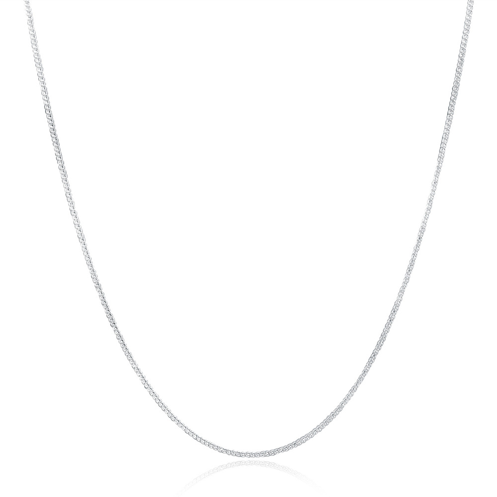 LN029 16-30 inches 2mm chain silver Necklace jewelry cute Beautiful fashion women men silver plated charm lovely FOR PENDANT