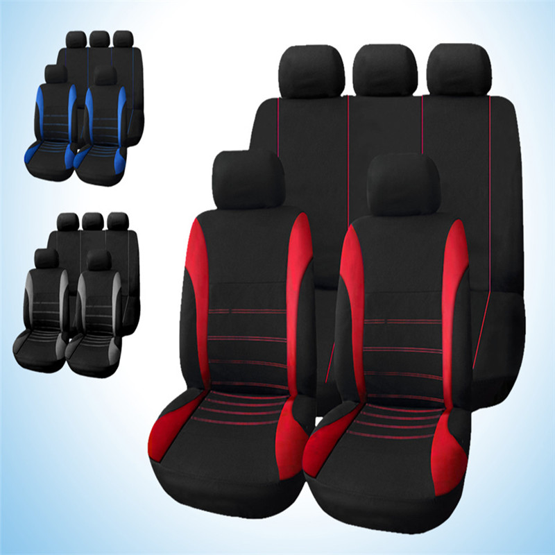 Hot Universal Car Seat Cover 9 Set Full Seat Covers for Crossovers Sedans Auto Interior Accessories Full Cover Set for Car Care universal 13 pcs car seat covers set sponge pu car styling interior auto accessories automotive car covers for car care ts15