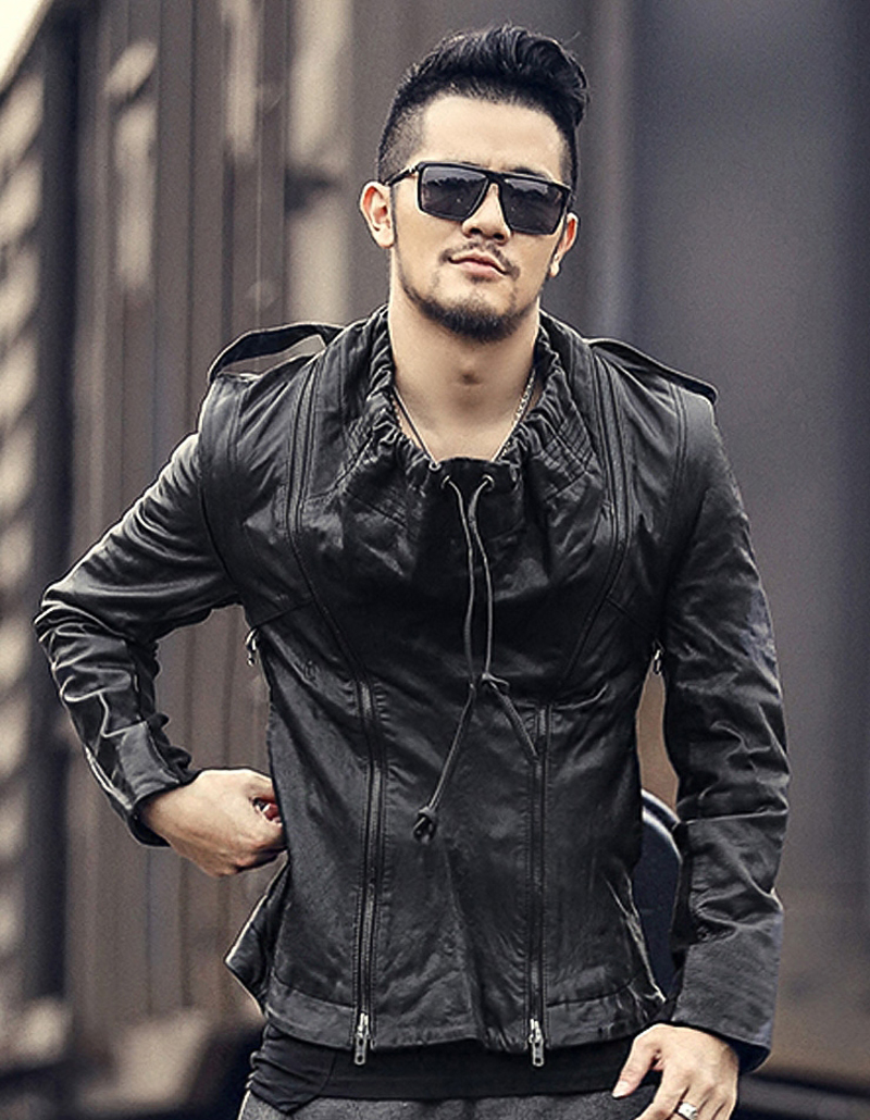 Brand clothing men leather Jackets men's top genuine Leather biker jacket Designer motorcycle coats homme Fitness