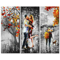 DIY 5D Resin Diamond Painting Cross Stitch picture Diamond embroidery autumn lover kiss full square rhinestones Mosaic Craft