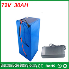Free customs taxes lithium battery 72V 30Ah electric bike battery 72V 3500W electric scooter battery with 50A BMS 2A charger
