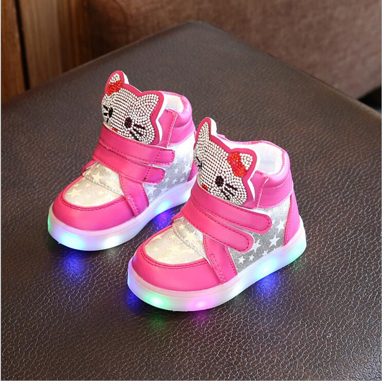 Children-cartoon-kitty-casual-shoes-with-light-new-breathable-sports-shoes-girls-flashing-LED-fashion-glowing-sneakers-21-30-5