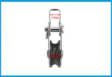 Stainless Steel 316 Pulley Blocks Rope Runner Kayak Boat Accessories Canoe Anchor Trolley Kit for 2mm to 8mm Rope
