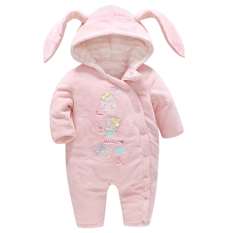 Picturesque Childhood Baby Clothes Autumn and Winter Clothing New Printing Rabbit Cotton Thicken Baby Jumpsuit Crawl SuitPicturesque Childhood Baby Clothes Autumn and Winter Clothing New Printing Rabbit Cotton Thicken Baby Jumpsuit Crawl Suit