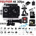 Original F60 / F60R Action Camera Ultra HD 4K 30FPS WiFi 1080P/60fps 2.0 LCD 170D Lens Helmet Cam go Waterproof pro Camcorder