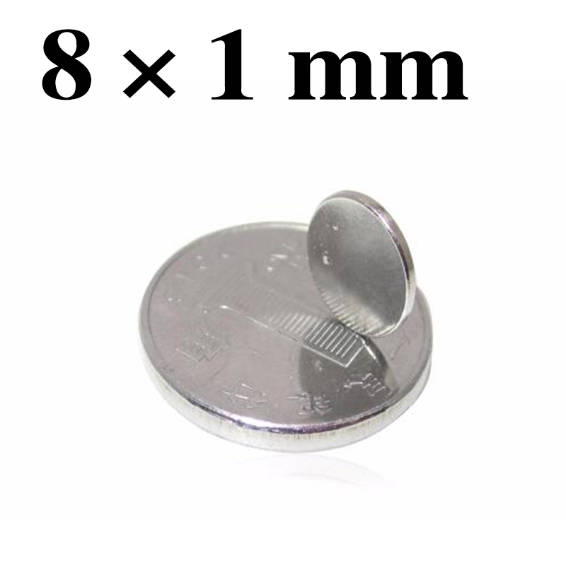 "X .197/"" Qty.5 Disc Magnet Neodymium 2 Pound Pull 1//4/"" Dia"