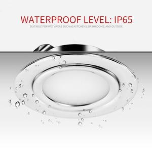 Image 3 - 4/8PCS Stainless steel waterproof LED spotlight IP65 bathroom Ceiling or boat Built in outdoor house Slim mini 12V downlight