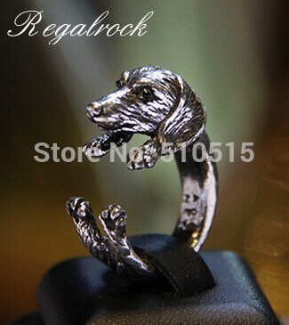 Regalrock Fashion Weiner Sausage Dog Wrap Dachshund Ring