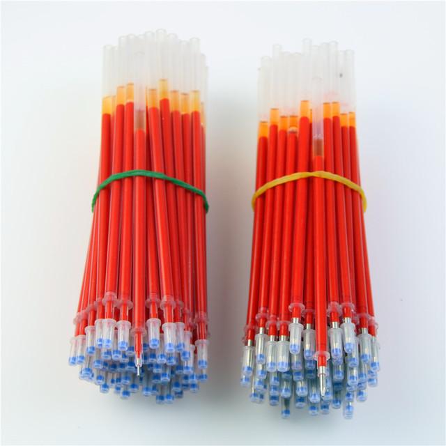 20Pcs/Lot Neutral Ink Gel Pen Refill Neutral Pen Good Quality Refill Black Blue Red 0.5mm 0.38mm Bullet Refill Office And School