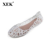 New 2015 Summer Women Sandals Breathable Shoes Crystal Jelly Nest Crystal Sandals Female Flat Sandal Shoes