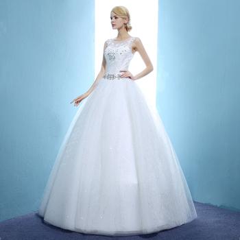 Suknia ślubna suknie balowe panny młodej duży rozmiar suknie ślubne wiązane suknie ślubne Plus rozmiar tanie i dobre opinie Kwiatowy Print O-neck Off the Shoulder Aplikacje Haft Bez rękawów Lace up LF014 Suknia balowa Księżniczka Matte Satin