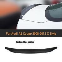 Carbon Fiber Car Rear Spoiler Wing Lip For Audi A5 Coupe Standard Bumper 2008 2015 Rear Trunk Wing Spoiler Sticker
