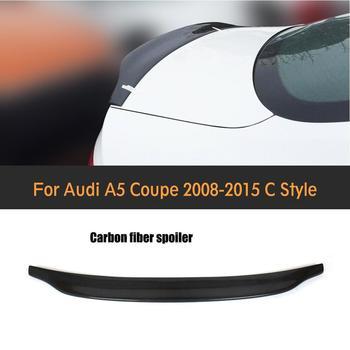 Carbon Fiber Racing Rear Spoiler Car Wing Lio For Audi A5 Coupe Standard Bumper 2008-2015 C Style jc 20130709 1