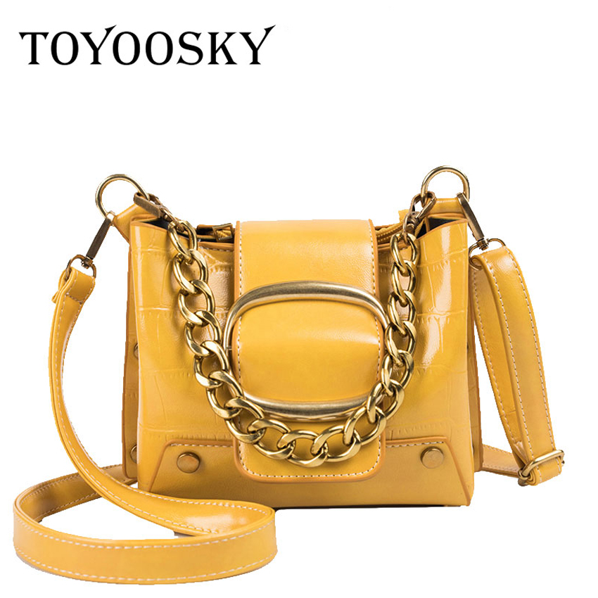 TOYOOSKY Luxury Handbags Pu Leather Women Bags Designer Chain Bag Messenger Vintage Small Crossbody For