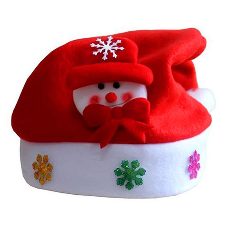 Kids Cheer Hat Children Santa Claus Reindeer Snowman Party Cute Cap