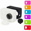 Action Camera Accessories XIAOYI 2 Silicone Case+Lens Cover Rubber Shell for xiaomi yi II 2 XIAOMI YI 4K Action Camera 2