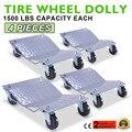 4 Коньки Колеса Тележки Автомобиля Ван Позиционирования Тележки 450 кг За Долли Автомобилей