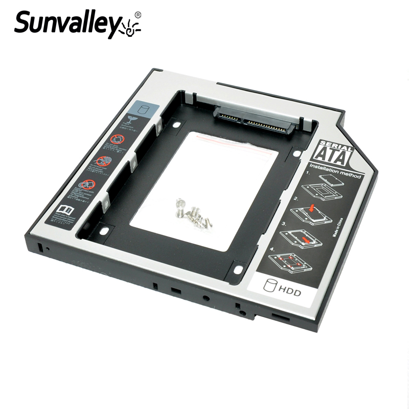 Sunvalley New 9.5mm Universal 2nd HDD Caddy 2.5