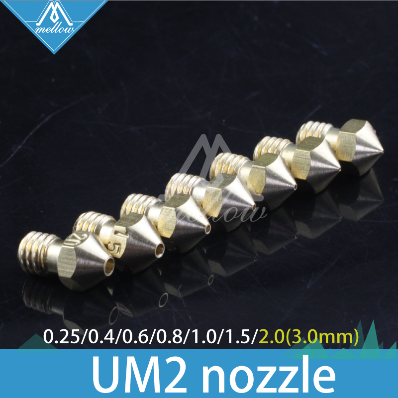 HOT!4/6/7PCS 3D printer Ultimaker 2 + UM2 +Extended heater hotend Olsson block nozzle (not include heater block) for 1.75/3.0MM