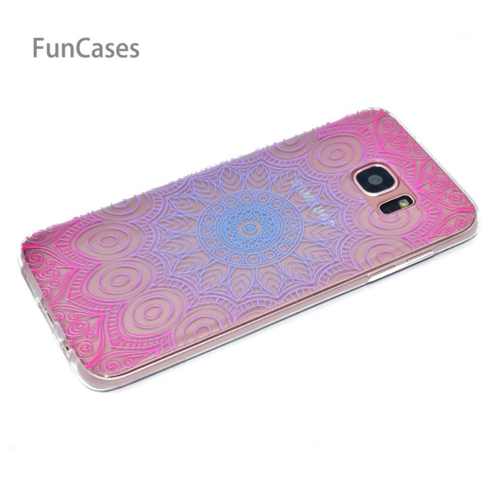 Pink Case sFor Estojo Samsung S7 Edge Soft Silicone Phone Case Estojo Business Back Cover sFor Samsung Galaxy S7 Edge Telefuninu