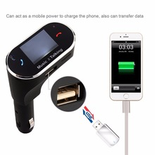 New Car Wireless Handsfree music FM Transmitter 12-24V Bluetooth Car Kit 2.1A USB Car Charger MP3 Player Support USB SD TF Card