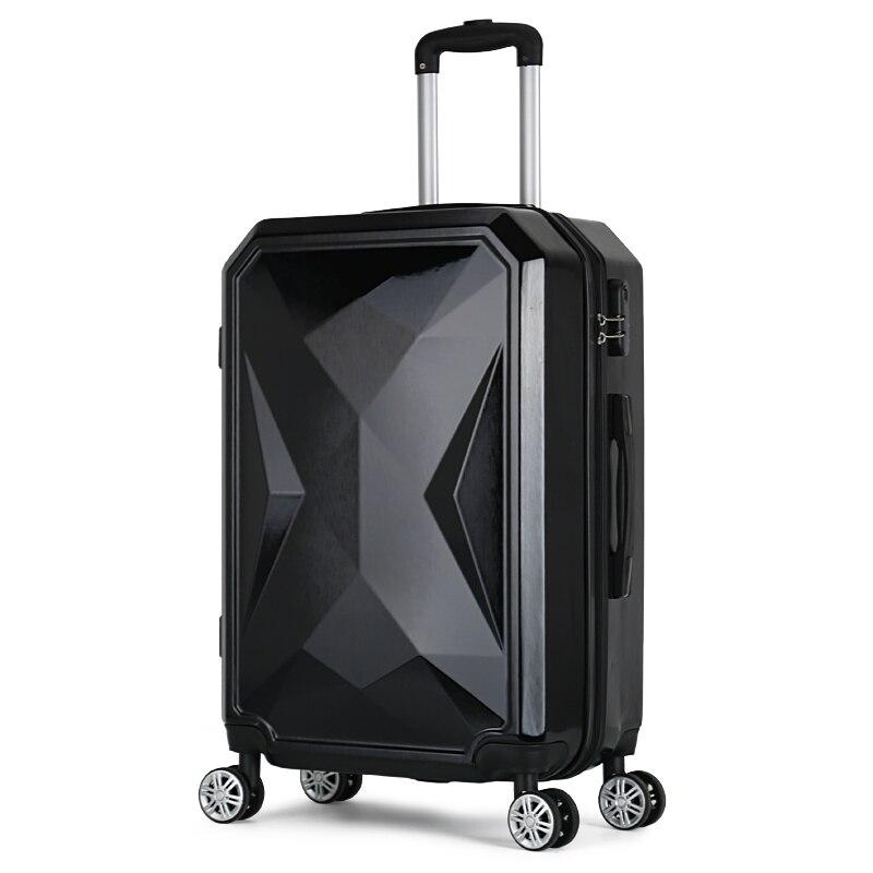 LeTrend Color rayas patrón de equipaje rodante 24 pulgadas maleta ruedas 20 pulgadas mujeres llevar en carro bolsa de viaje maletero - 5