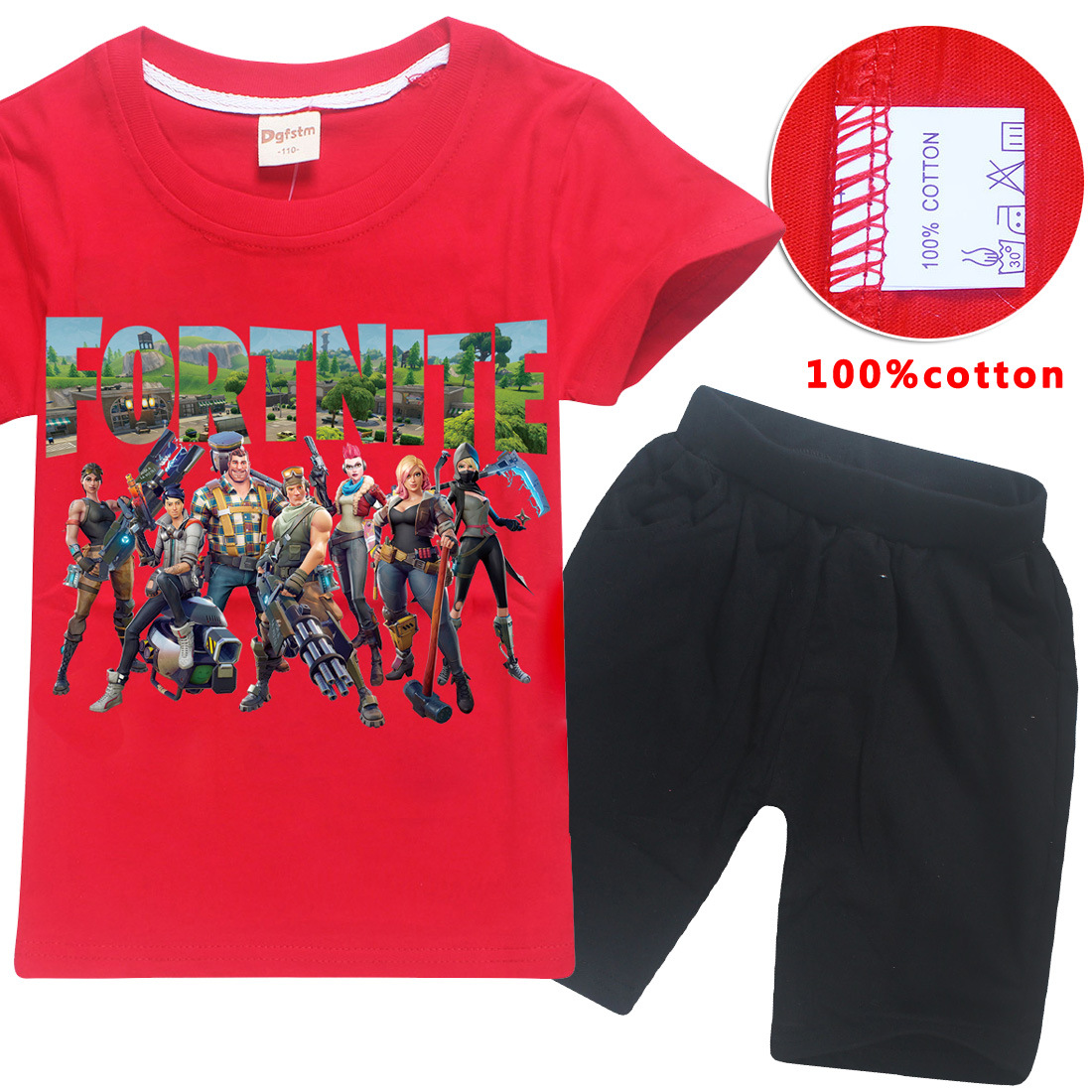 Z&Y 6-14Years Game Fortnite Kids Summer Clothes Boys Clothing Set Shirt Junior T-shirt S ...