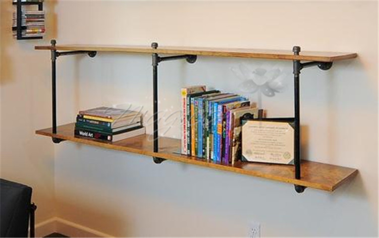 american do the old wood shelves creative industries iron pipe wall shelf bookcase shelf display. Black Bedroom Furniture Sets. Home Design Ideas