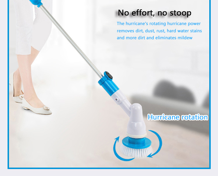High-quality multi-function cleaning brush wireless charging electric long handle cleaning brush household cleaning tools 1pcs lot j112y imitation of brass wire brush for cleaning and polishing wooden brush diy using high quality on sale