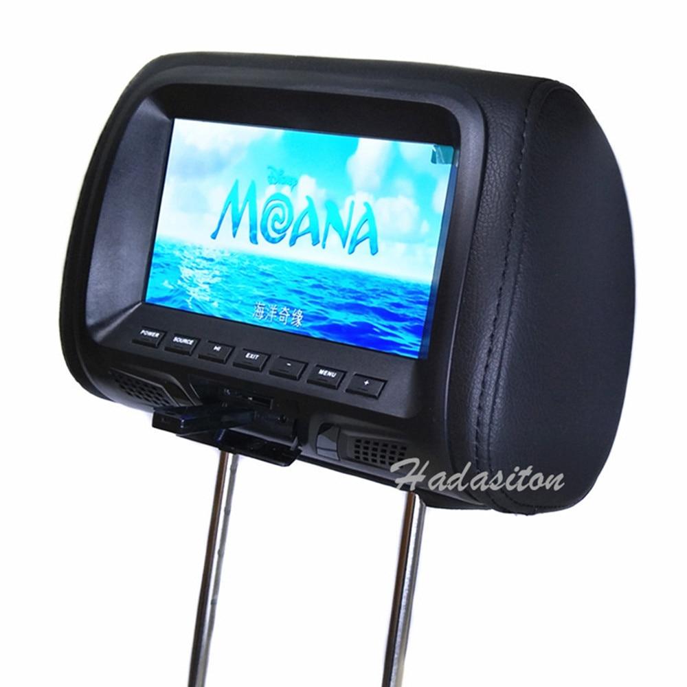 Universal 7 TFT LED screen Car Headrest monitor MP5 player Support AV USB SD input FM