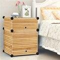 Simple moderna cama mesitas de noche de madera maciza muebles de dormitorio armarios líneas