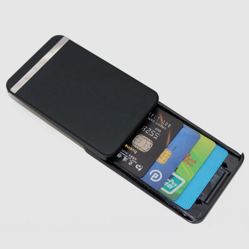 2019 Hot Brand Ingenious RFID  Blocking Wallet Bank Credit Card Holder Business Card Case Slide Automatic Credit Card Protector slide wallet