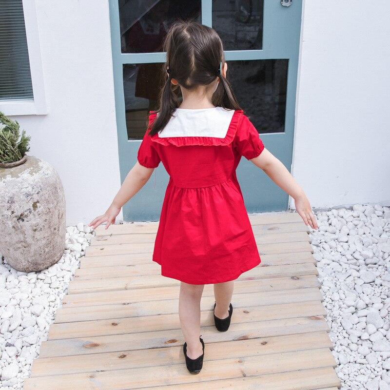 Vestidos de Algodão Crianças Adolescentes 4-10 Yrs Meninas