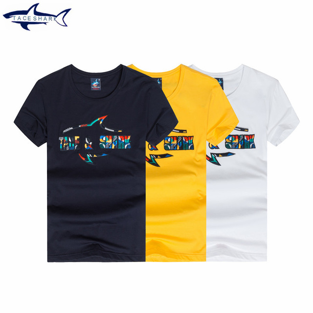 291acd4604245 HOT quality New Arrival 2017 men Designer T Shirt cotton Shark Print T  Shirts Brand Clothing homme camiseta jersey men T- shirt