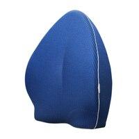 New Lumbar Pillow Back Support Cushion Memory Foam Home Office Car Waist Backrest Cushion Pad Fashion Chair Seat Cushions
