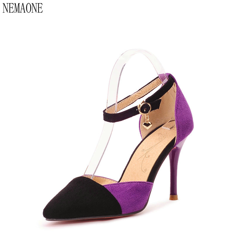 NEMAONE 2017 bottom High Heels Women Pumps fashion High Heel Shoes Woman Sexy Wedding Party Shoes black red Blue texu high heeled shoes woman pumps wedding shoes platform fashion women shoes red bottom high heels