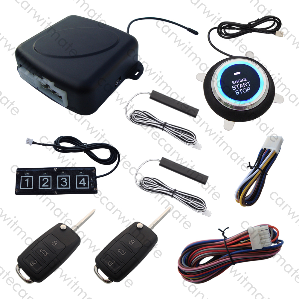 Smart HAA Flip Key PKE Car Alarm System Remote Start Stop Engine Push Start Car Passive Keyless Entry With Password Keyboard car alarm system pke smart key touch password entry power saving remote engine start starter push start stop button dc12v