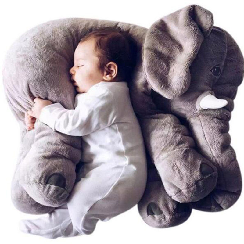 2016 Hot Sale Free Shipping 55cm Colorful Giant Elephant Stuffed Animal Toy Animal Shape Pillow Baby