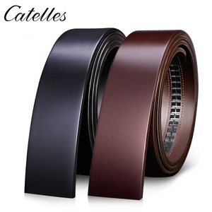 Image 1 - Catelles No Buckle 3.5cm Wide Real Genuine Leather Belt Without Automatic Buckle Strap Male Designer Belts Leather Belt Men 6045