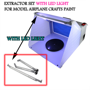 Image 2 - OPHIR 25W LED Light Airbrush Spray Booth Exhaust Filter Extractor Set for Model Hobby Crafts Paint Airbrush Workbench _AC076LED