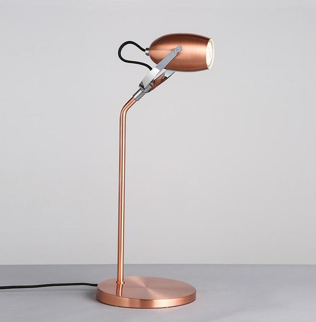 spesso Moderno oro rosa lampade da tavolo a led ruotabile desk lamp  BA31